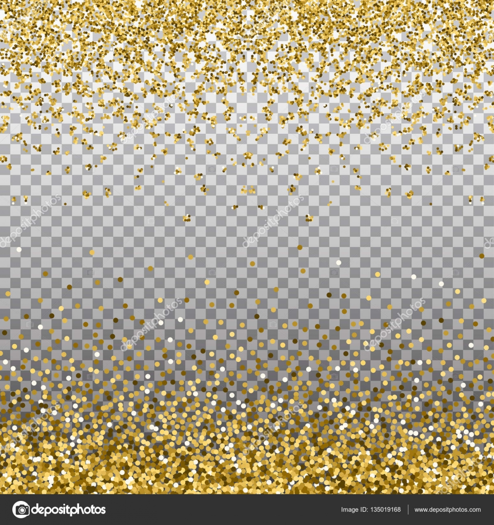 gold glitter background golden sparkles on border template for holiday designs invitation party birthday wedding new year christmas