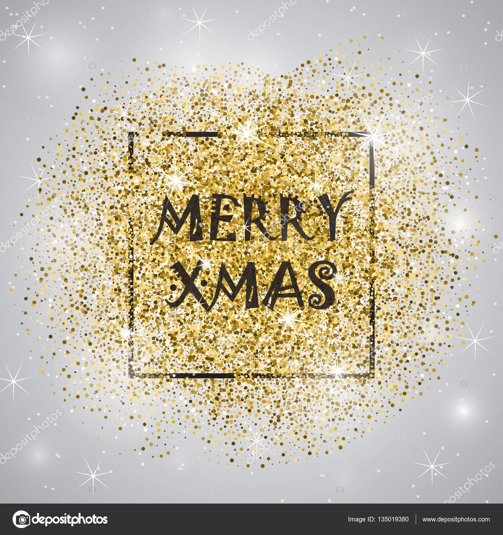 Buon Natale Glitter.Buon Natale Glitter Oro Vettoriali Stock C Klerik78 135019380