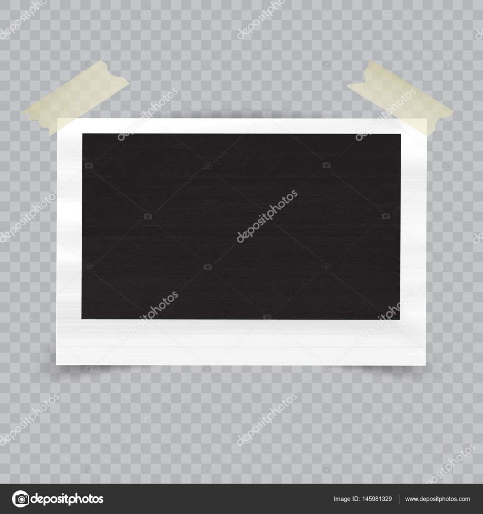 Antiguo vacío realista marco con sombra transparente sobre fondo a ...