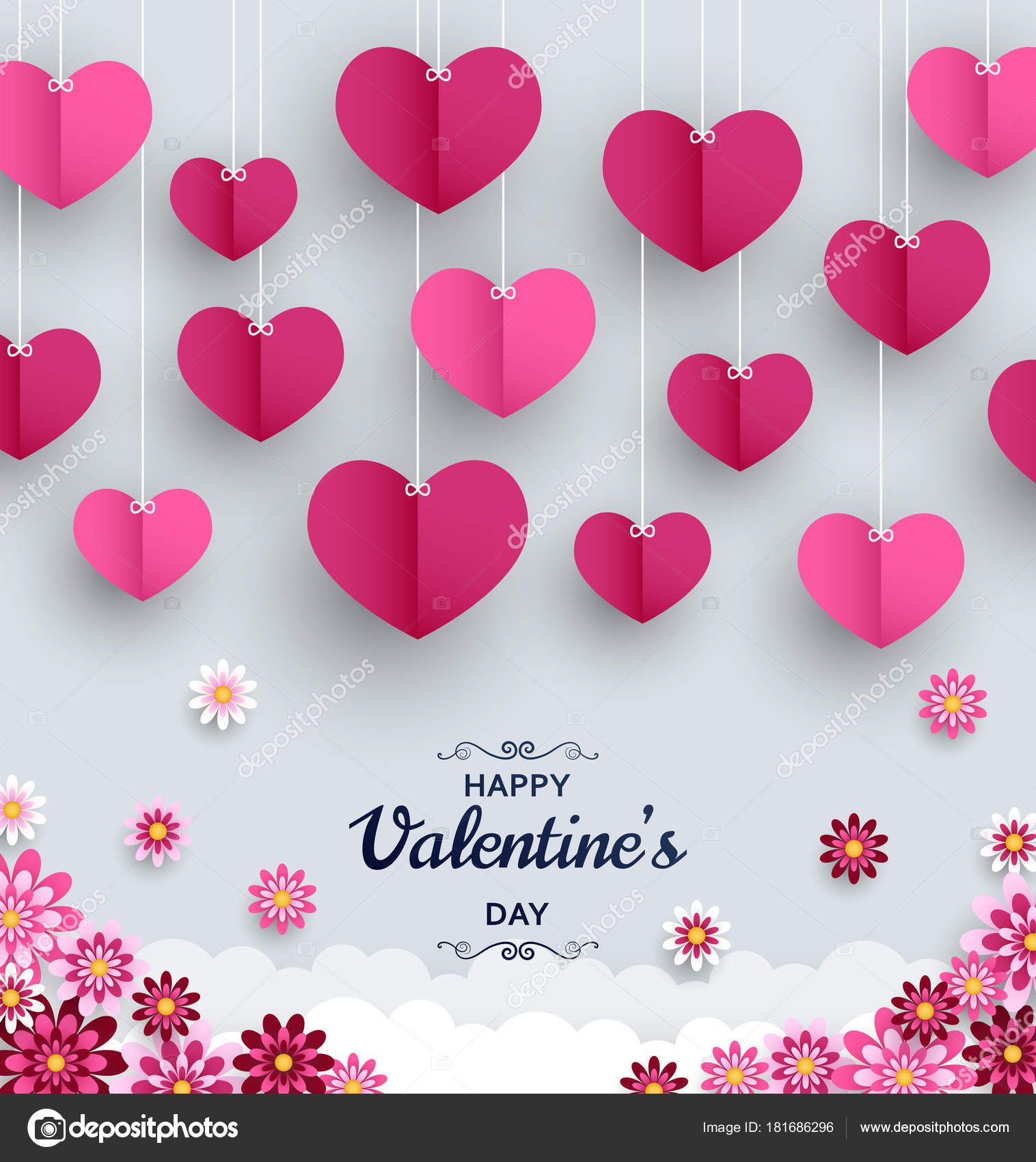 Happy Valentine Day background. Good design template for banner ...