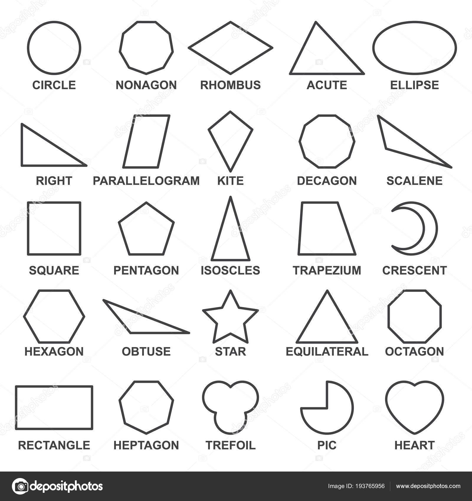 Conjunto De Figuras Geométricas Básicas Avanzar En Conceptos