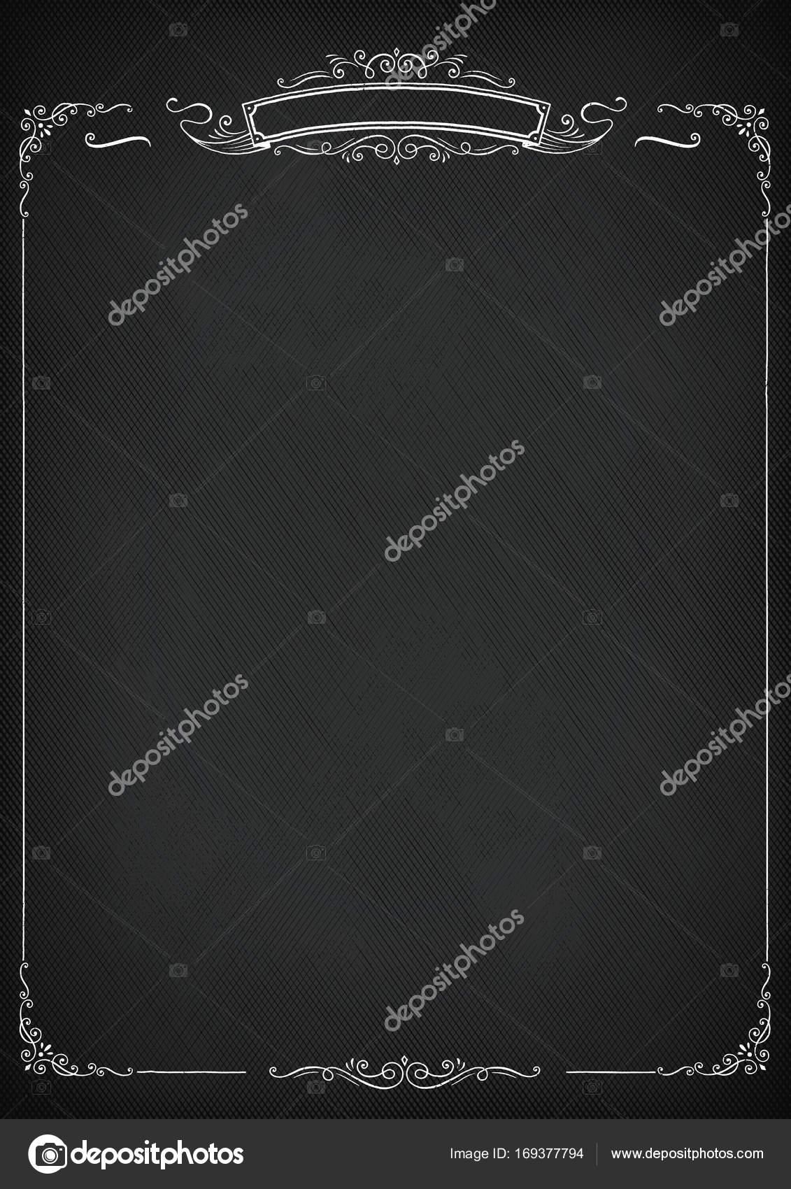 Senkrechten Vektor Retro-Tafel Hintergrund mit Rahmen — Stockvektor ...