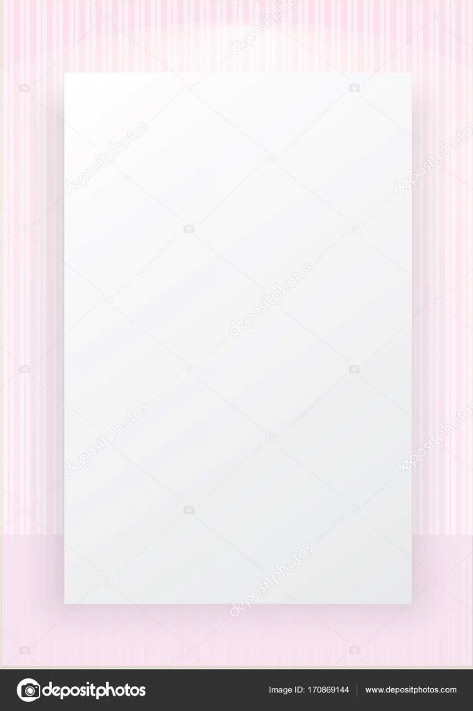 Linea Rosa A Strisce Tappezzeria Con Sfondo Bianco Spazio