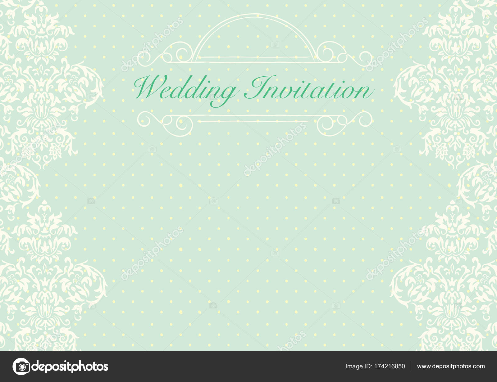Green wedding invitation card background template with pattern green wedding invitation card background template with pattern stock vector stopboris