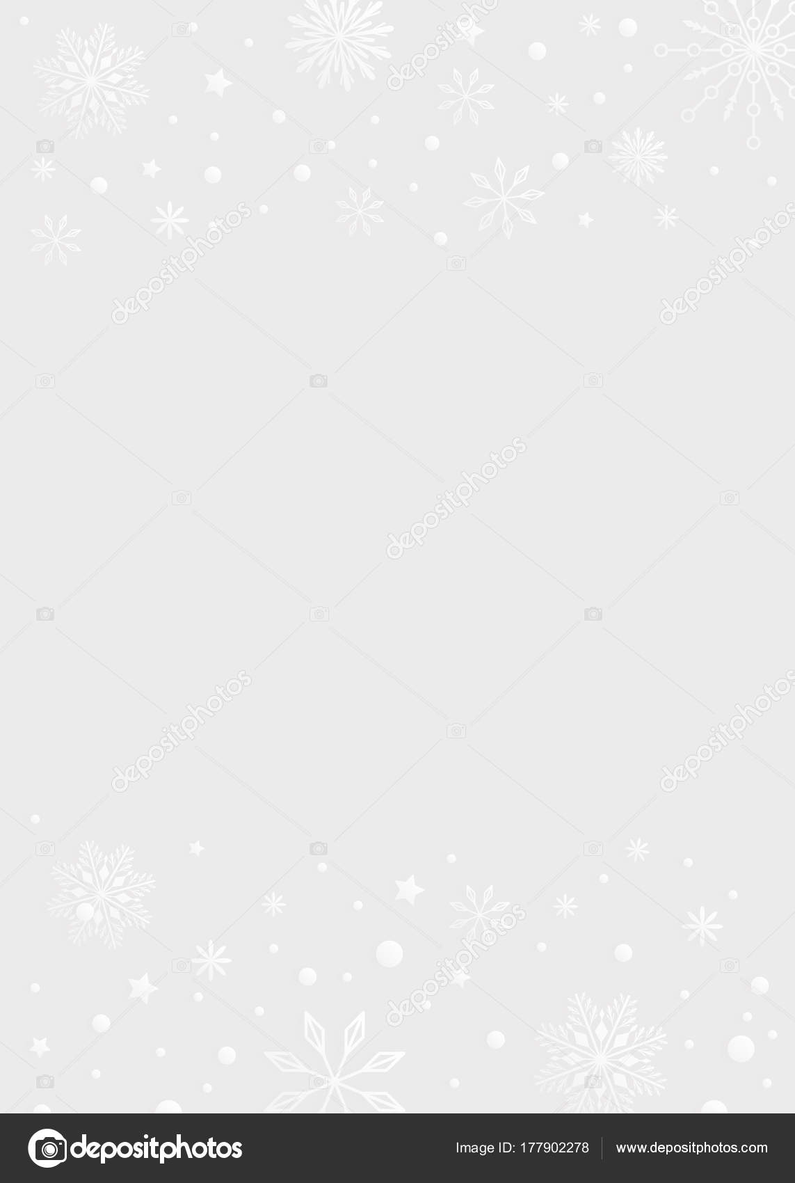 light gray color template background with snowflake and snow bor