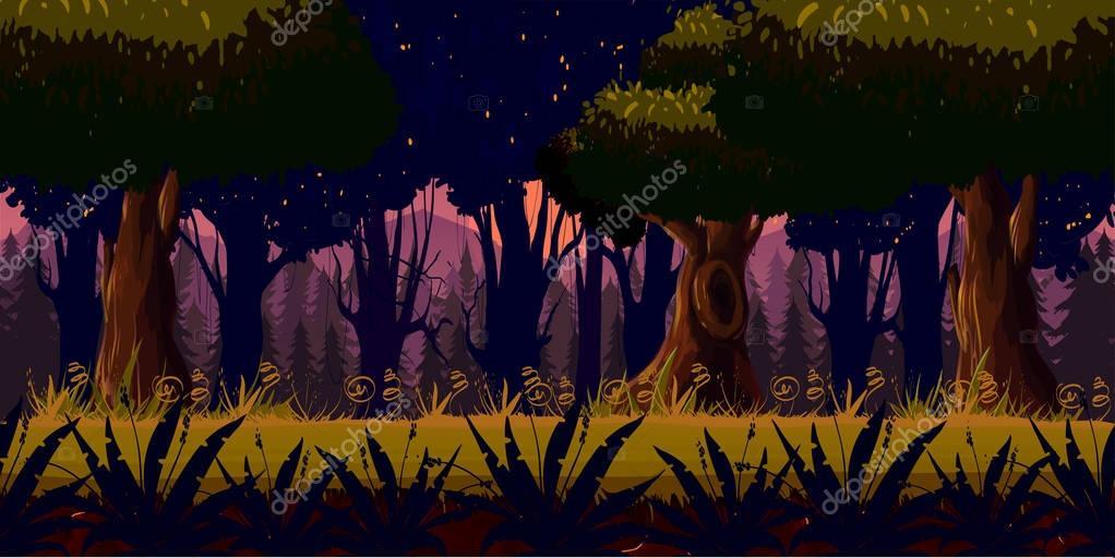 Mystery Dark Forest Background