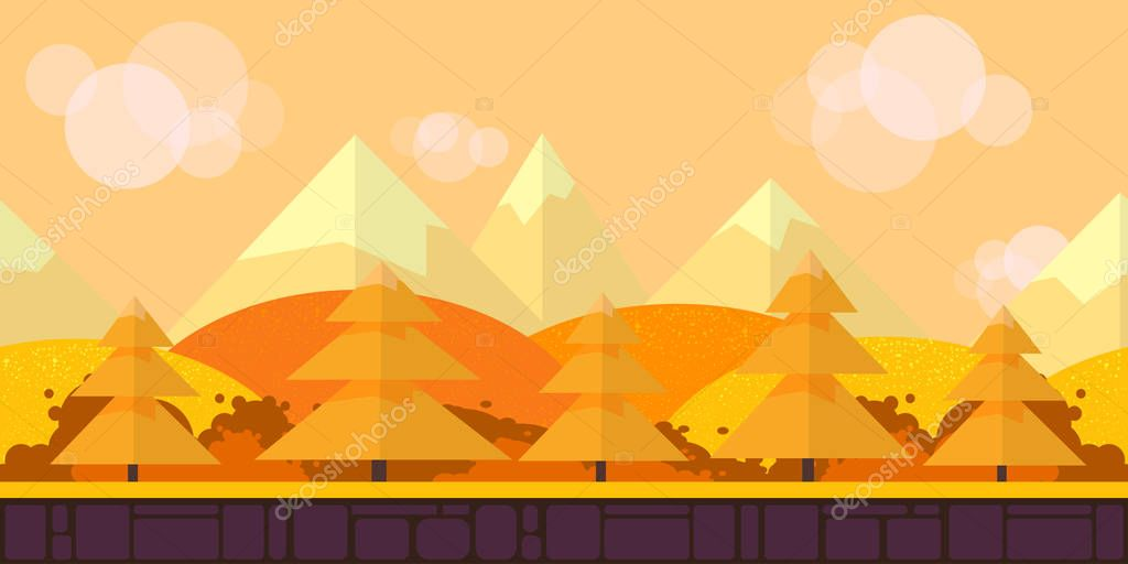 Game Seamless background flat Style 2d application. Illustration