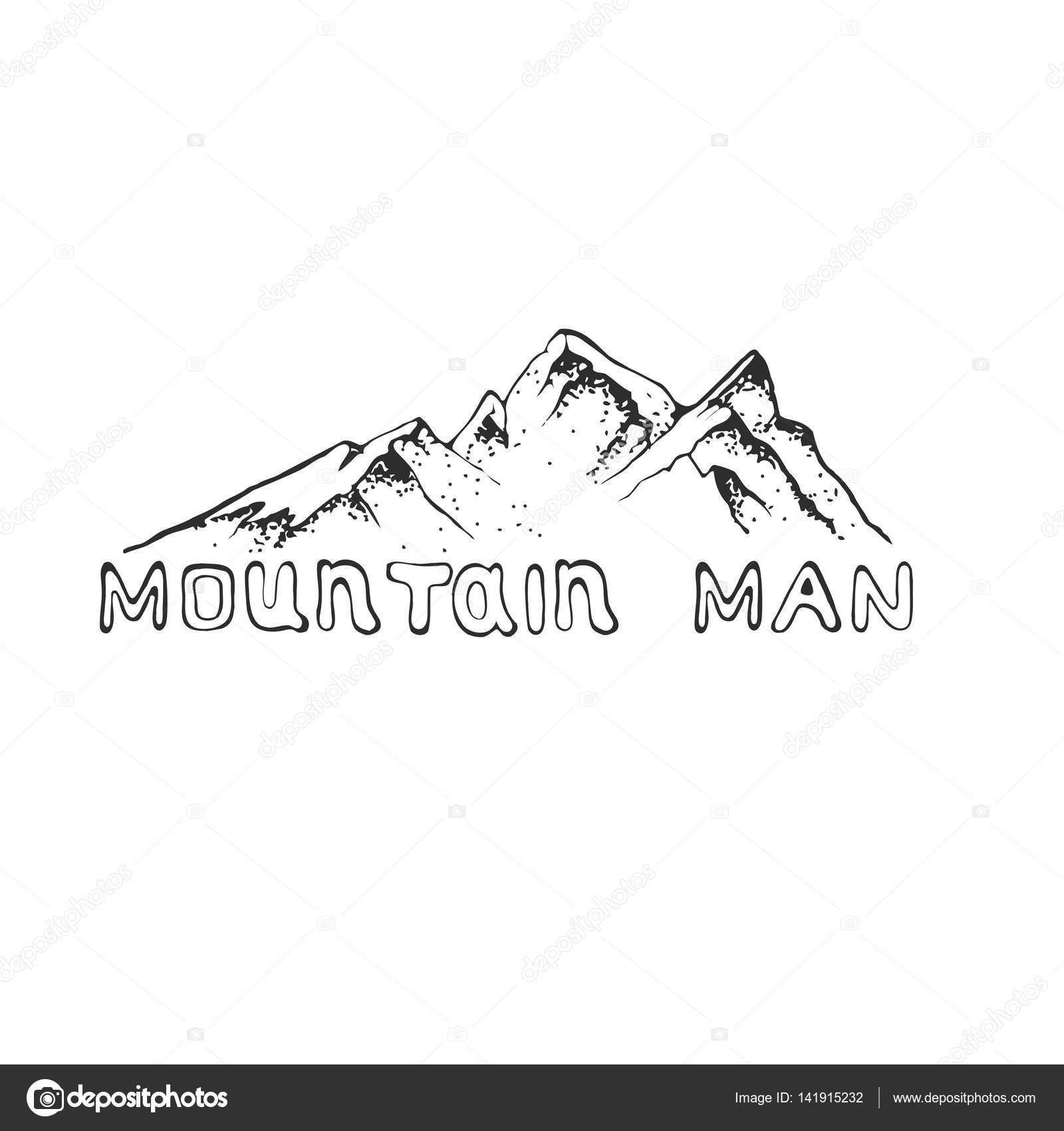 Ilustración de vector de un pico de montaña con bosque de pinos ...