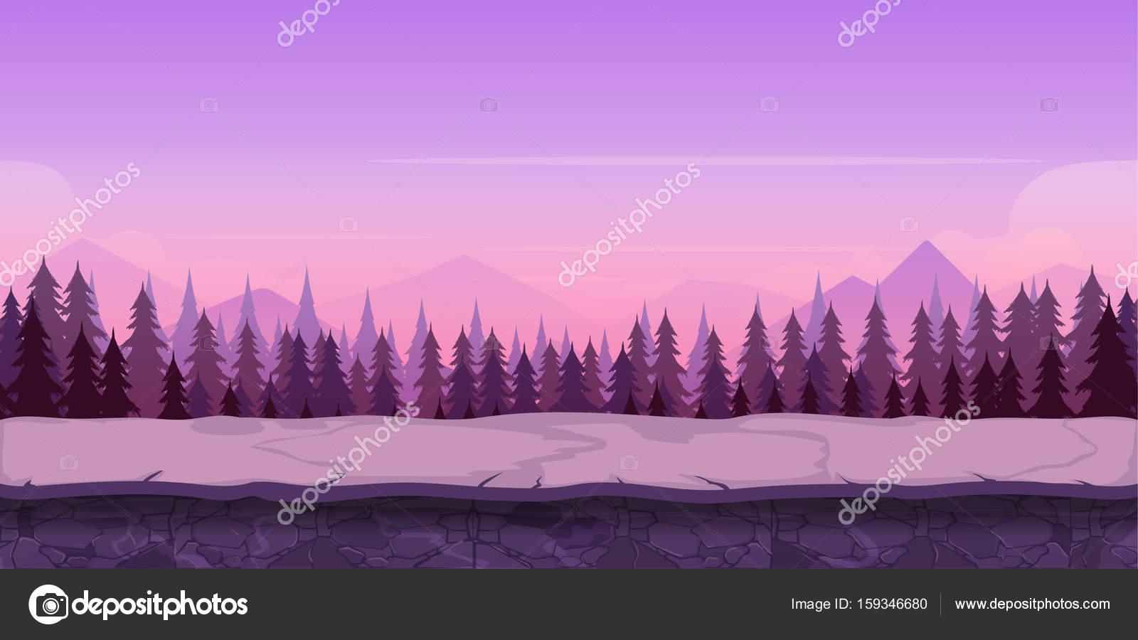 Joyeux Noel Twilight.Background For Your Game Created In Modern Purple Colours