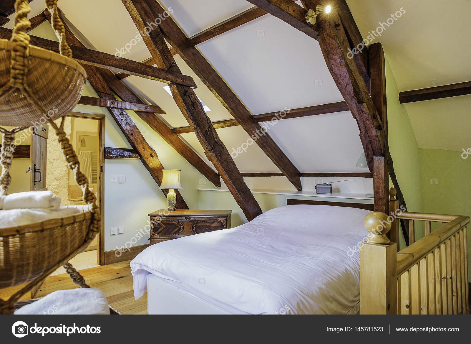 Log Cabin Bedroom Stock Photo C Dglimages 145781523