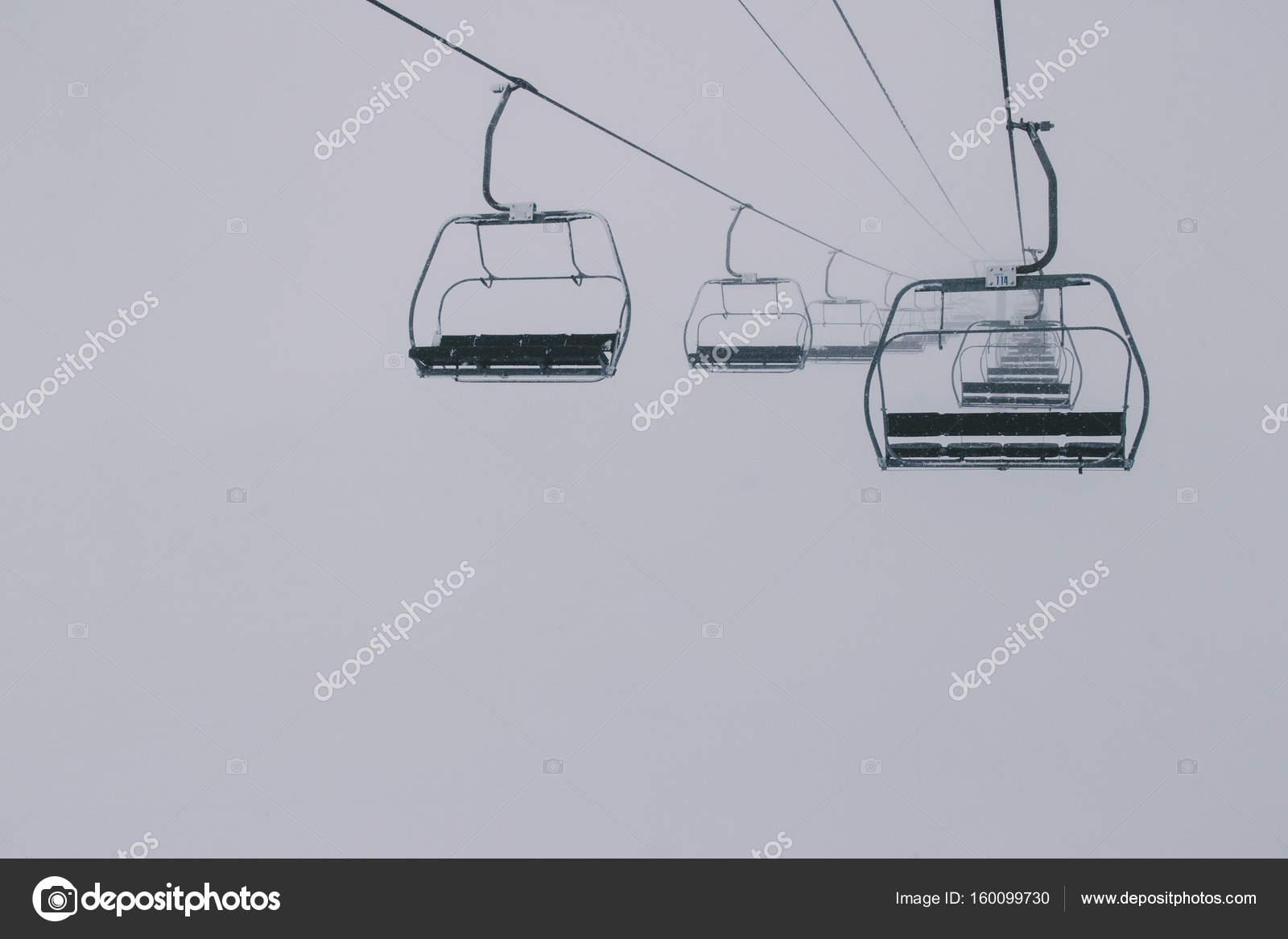 Empty Ski Lift — Stock Photo © DGLimages #160099730