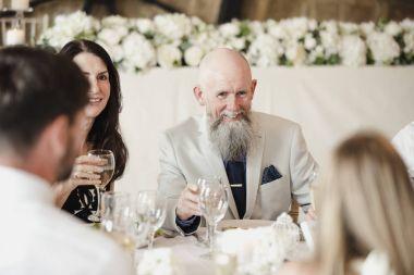 Guests Socialising At Wedding
