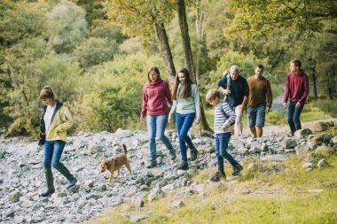 Three Generation Family Hiking through the Lake District