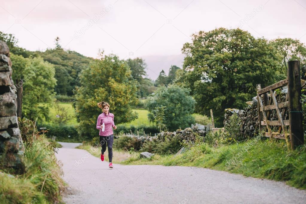 Senior Running in the Lake District