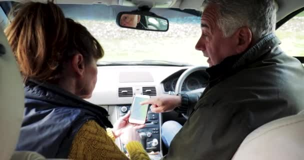 Пожилые в машине 6