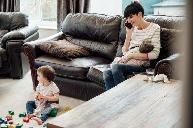 Multitasking Mum at Home