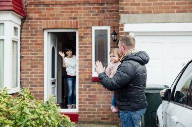 Waving Goodbye to Mum