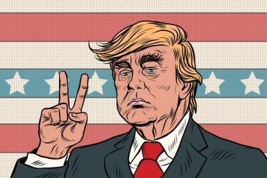 Donald Trump President, gesture of victory