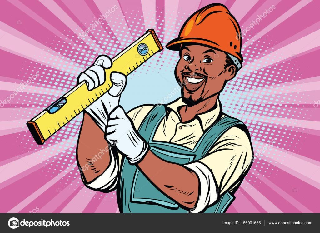 Bauarbeiter Mit Niveau Stockvektor C Rogistok 156001666