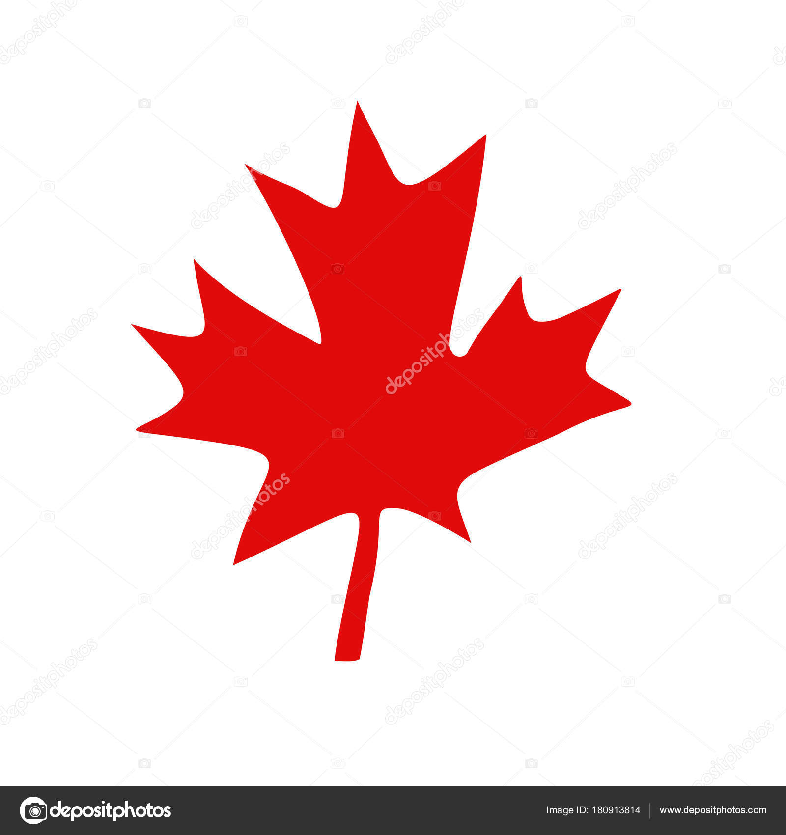 Foglia di acero canadese rosso vettoriali stock - Foglia canadese contorno foglia canadese ...