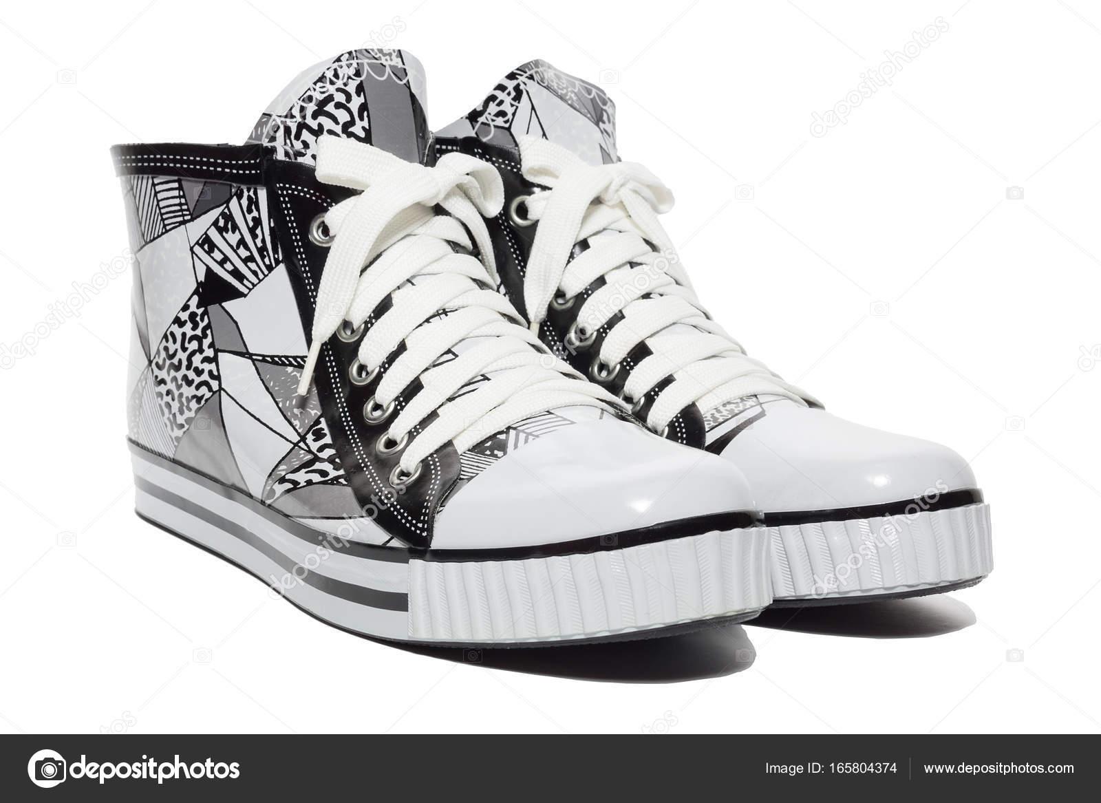 e68140d3673 Ελαστικά γυναικεία παπούτσια της κορδόνια, απομονωμένες, στούντιο — Εικόνα  από ...