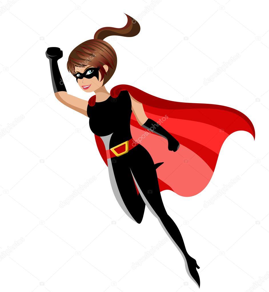 Superh roe mujer vuelo aislado vector de stock - Liste super heros femme ...