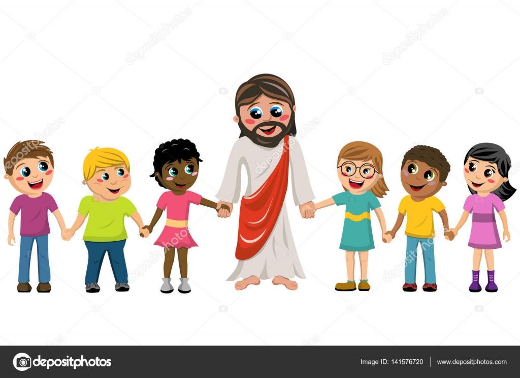 M o de jesus dos desenhos animados na m o crian a isolada - Child jesus images download ...