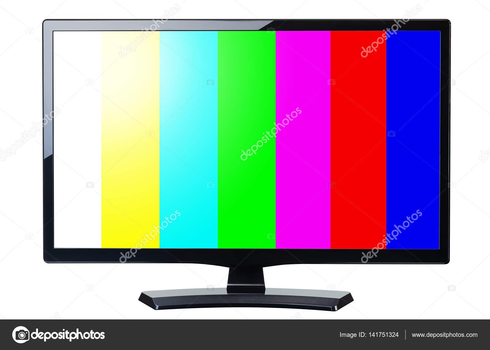 pantalla monitor tv vídeo retro con colores barras aisladas Foto de stock © canbedone #141751324