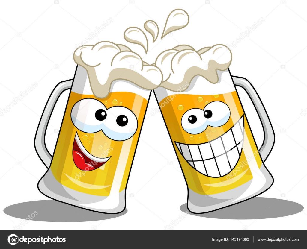 Aislaron De Dibujos Animados Cerveza