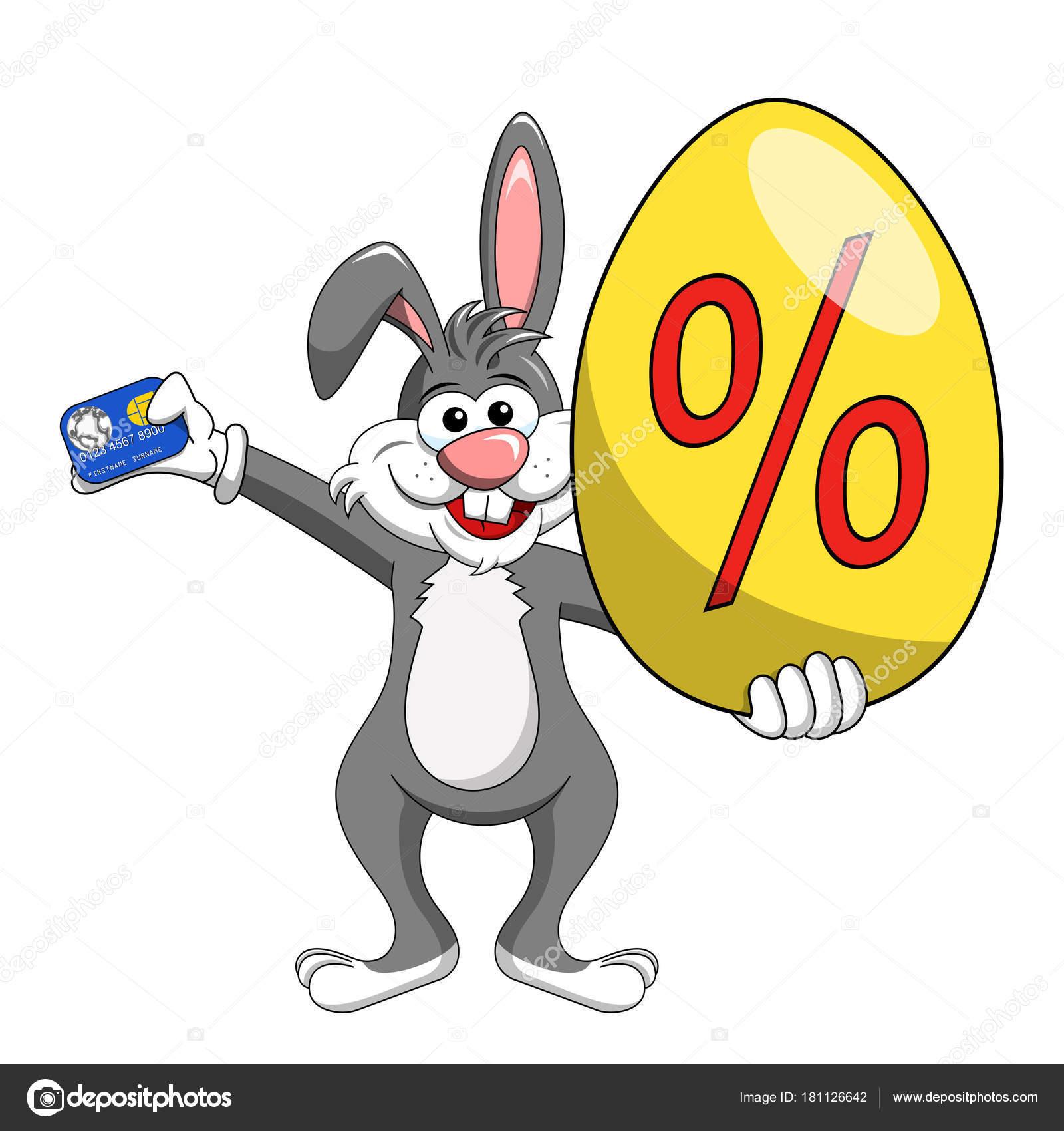 Conejo o conejito con descuento o de huevo grande y tarjeta de ...