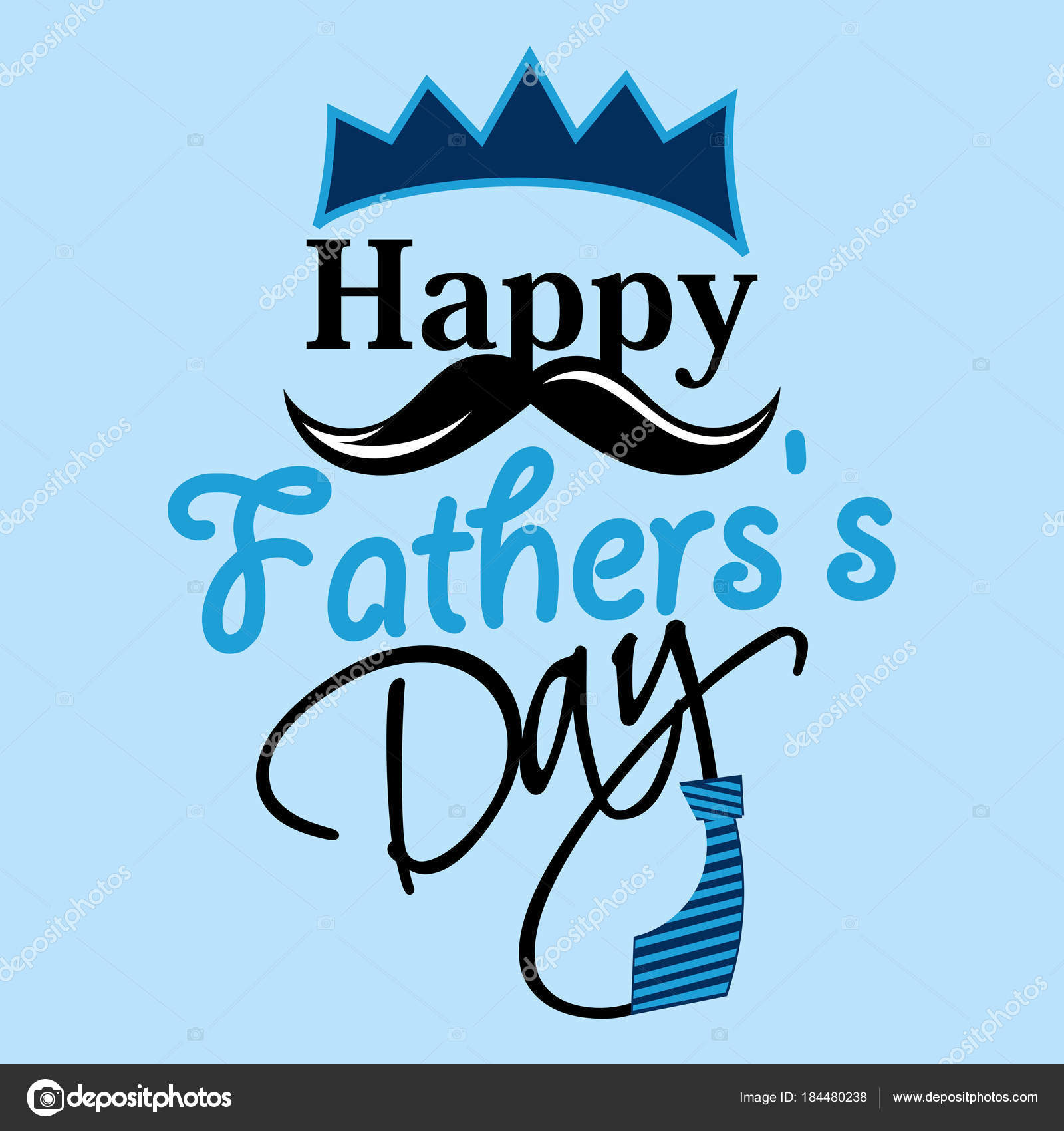 Happy Fathers Day Greeting Card Stock Vector Canbedone 184480238