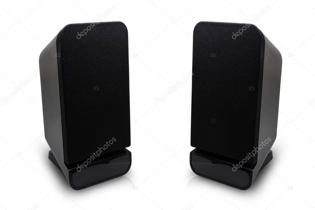 Isolated two desktop speakers