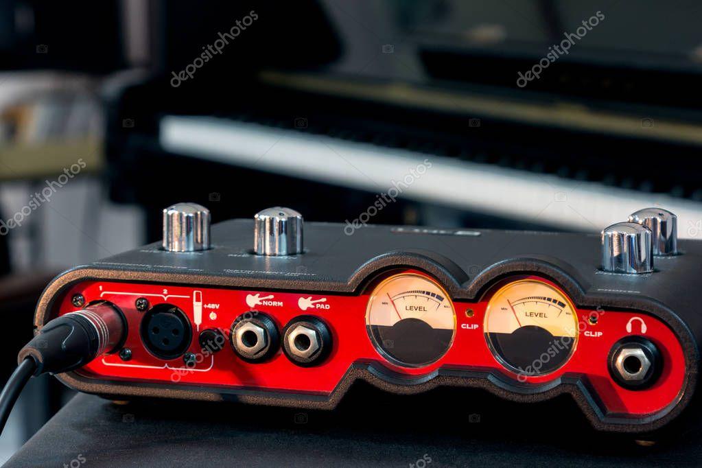Hand adjust volume of the audio interface