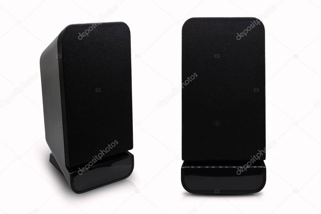 Isolated two desktop speakers