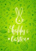 Happy Easter Vorlage mit bunny