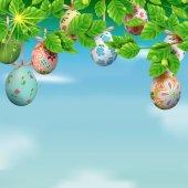 Velikonoční šablony karta