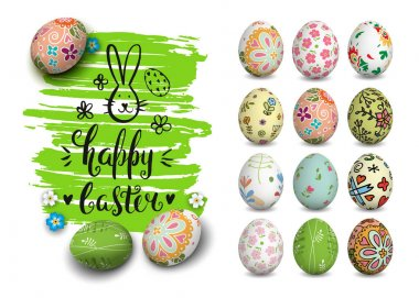 Easter card and hand drawn elements