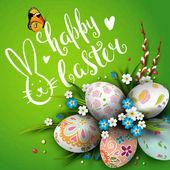 Fotografie Happy Easter Vorlage Karte