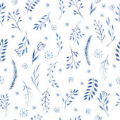 Photo Seamless floral pattern with twigs