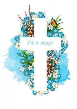 Christian  cross with inscription