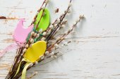 Húsvéti dekorációk, a punci fűzfa