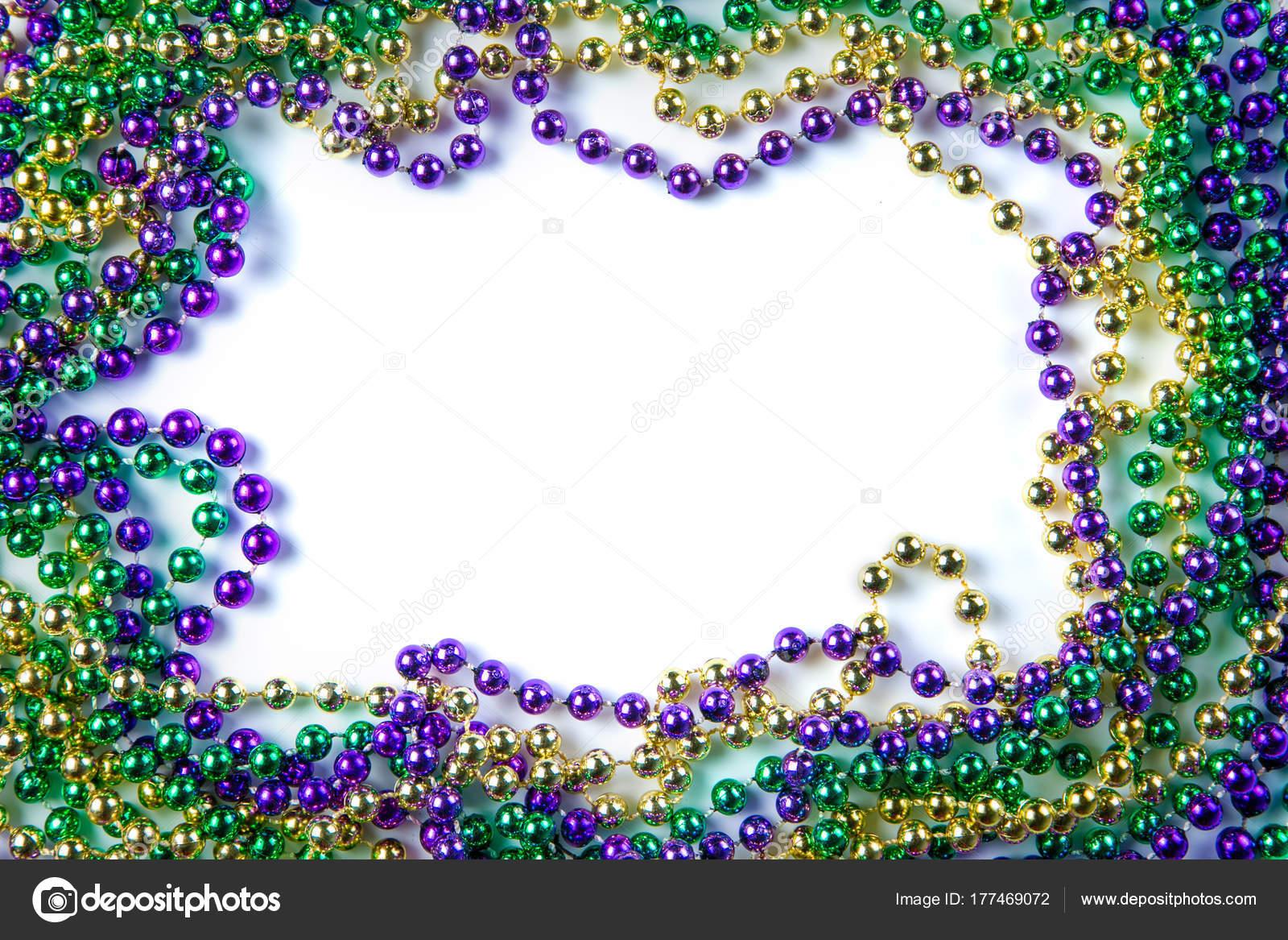 Fasching Karneval Hintergrund Perlen Und Maske Stockfoto