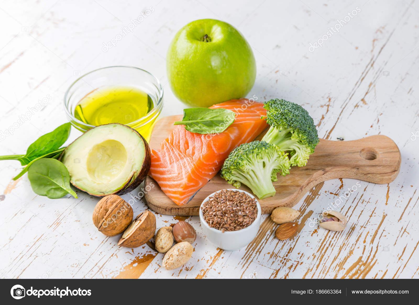 Wybor Zdrowej Zywnosci Zrodla Zdrowe Jedzenie Koncepcja Dieta
