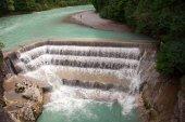 Fotografie Lechfall. Schöner Wasserfall in der Nähe von Füssen, Deutschland