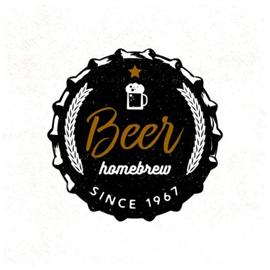 Beer badge stylized for beer lid