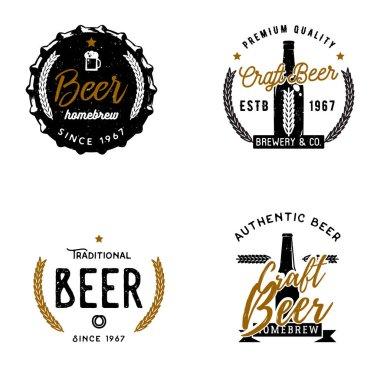 Et of beer themed logos, badges, labels.