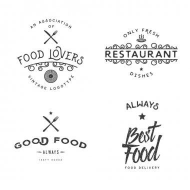 Food related vintage logo templates