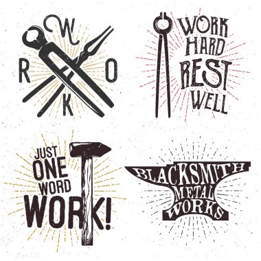 Set of motivational and inspirational badges
