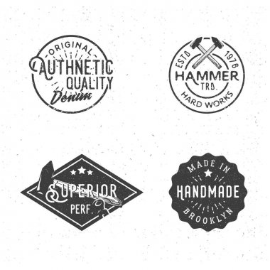 Vintage logotypes in retro old-fashioned style
