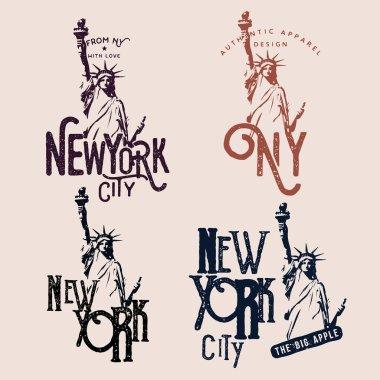 New York themed badges